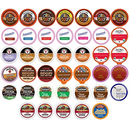 Flavored Coffee Single Serve Cups For Keurig K cup Brewers Variety Pack Sampler, 40 count