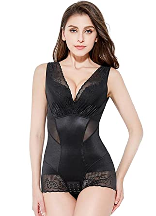 bb2d2afd7fd41 MYSEXY Womens Shapwear Butt Lifter Tummy Control Body Shaper Seamless  Bodysuit (US 4-6