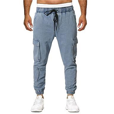 AmaSells - Pantalón de Traje - para Hombre, Primavera-Verano ...