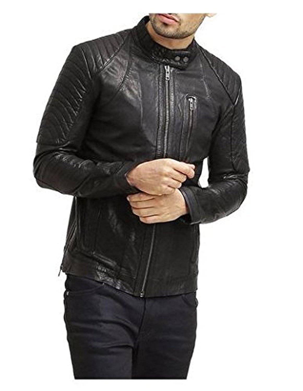 Laverapelle Men's Lambskin Real Leather Jacket Black - 1510502