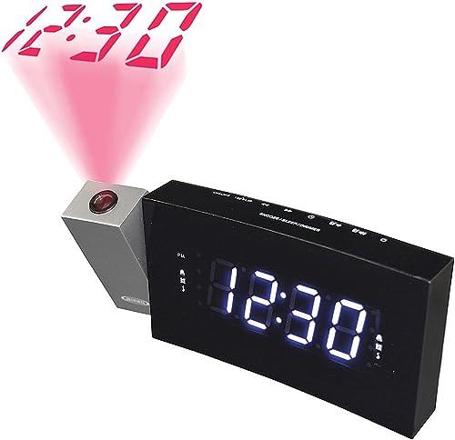 Jensen Digital Dual Alarm Projection Clock Radio