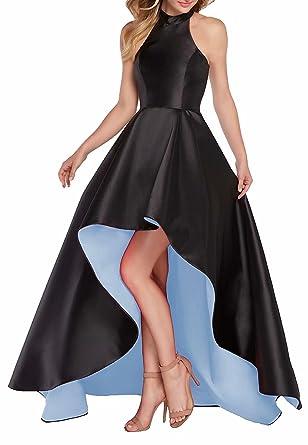 NaXY Sexy ärmellos Halfter High Low Abendkleider schnüren Prom ...
