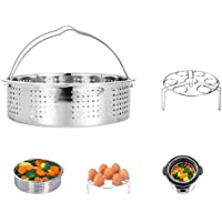 HapWay Stainless Steel Steamer Basket with Egg Steam Rack trivet Compatible with Instant Pot 5,6,8 qt Electric Pressure…
