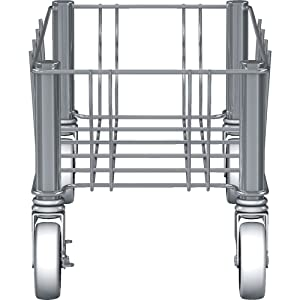 Rubbermaid Commercial Products Vented Slim Jim Single Trash Can Dolly, Stainless Steel, 1968468
