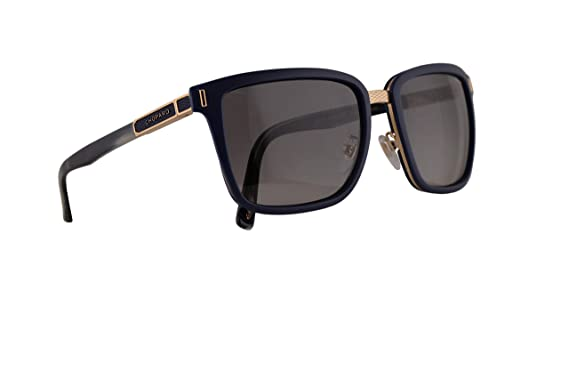 Amazon.com: Chopard SCHB84 Sunglasses Shiny Blue w/Polarized ...