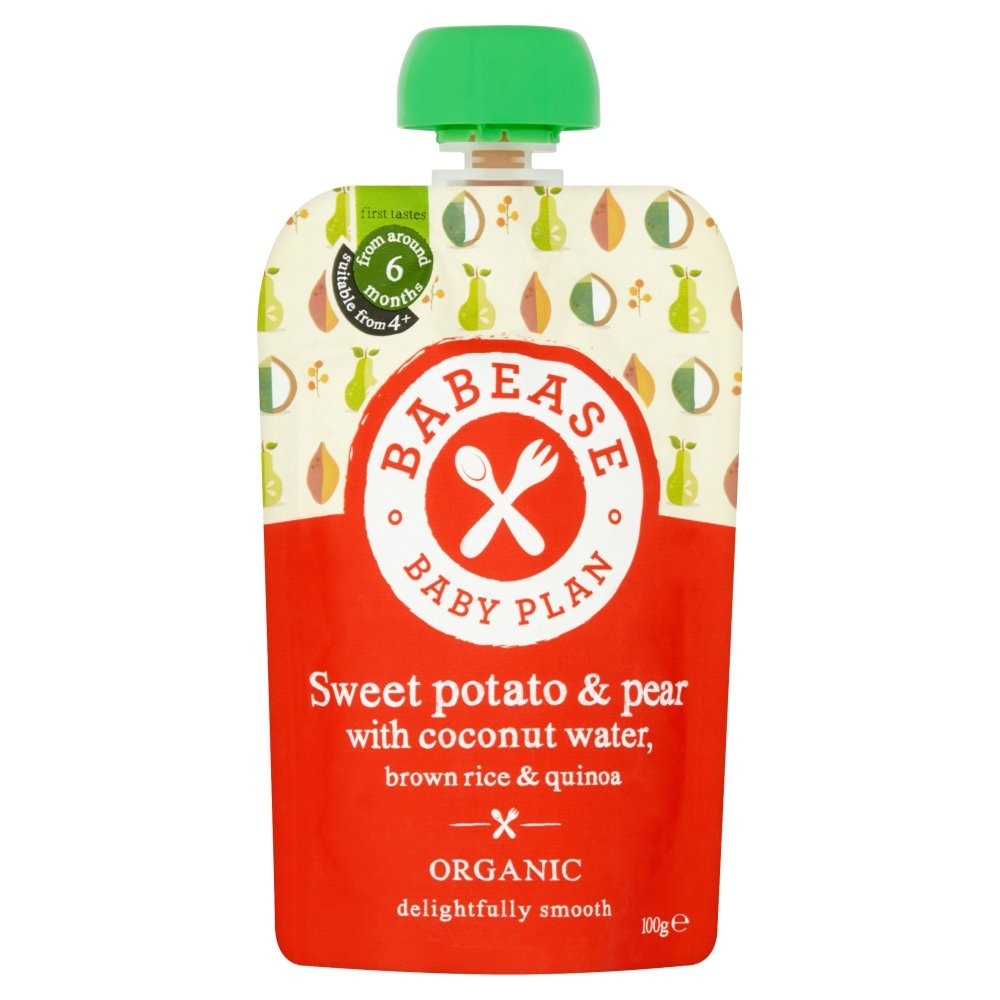 Babease Organic Pear, Mixed Berries, Coconut Water, Brown Rice & Quinoa, 100g (Pack of 8) 84775