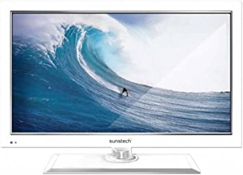 Sunstech TLEXI1662HDWT - Televisión LED de 16 pulgadas, HD Ready, DVD, color blanco: Amazon.es: Electrónica