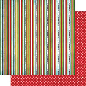 "Elf Magic Double-Sided Cardstock 12""X12""-Stripe"