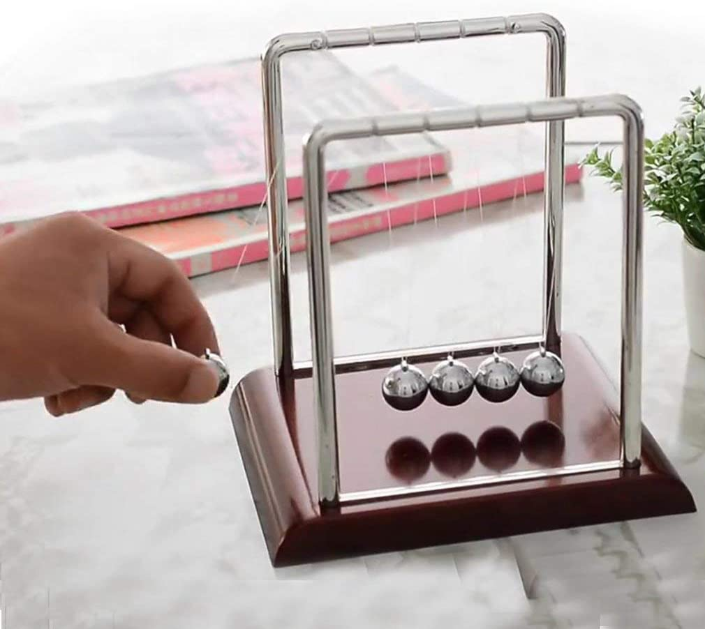 KinshopS Newtons Cradle Steel Balance Balls Desk Physics Science Pendulum Desk Toy
