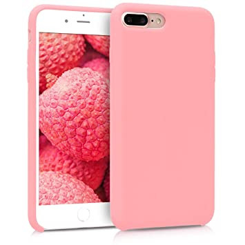 kwmobile Funda para Apple iPhone 7 Plus / 8 Plus - Carcasa de {TPU} para teléfono móvil - Cover {trasero} en {rosa oro mate}