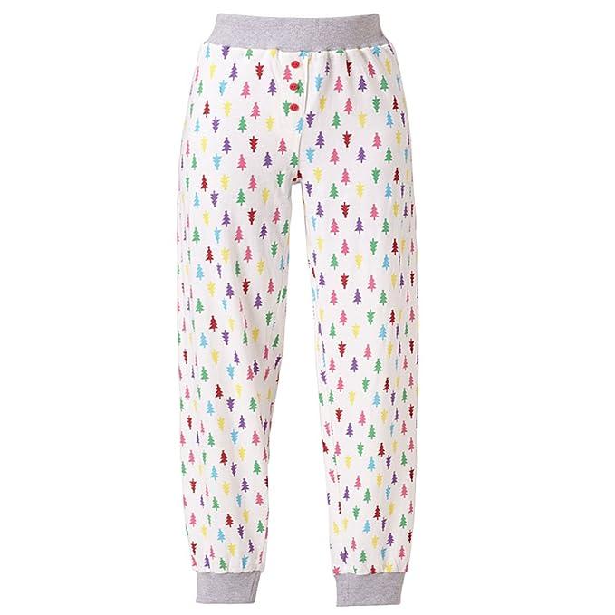 Love To Sleep rayas árbol de Navidad reno suave Jersey pantalones de pijama Mujer multicolor Christmas
