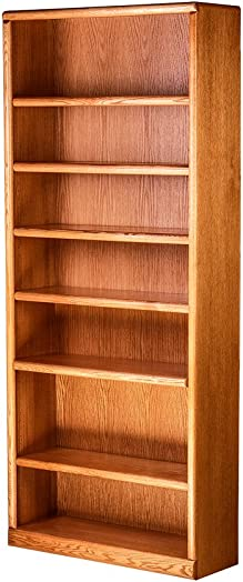 Deal of the week: Forest Designs Bullnose Bookcase: 36W X 84H X 13D Unfinished Oak