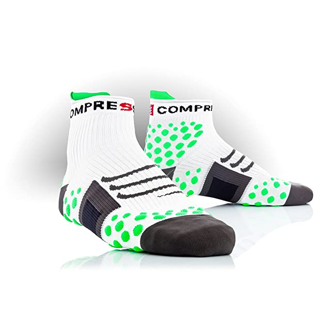 Compressport Calcetines Trail Blanco/Verde EU 46-48 (T5)
