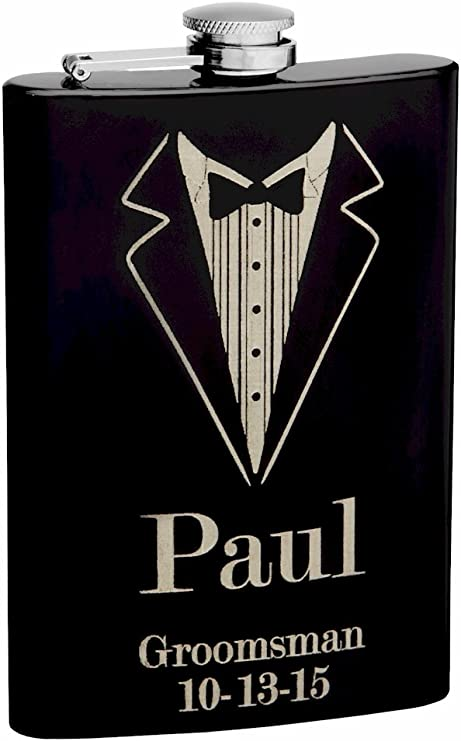 8oz 5 Plastic Flask groomsmen gifts conceal alcohol