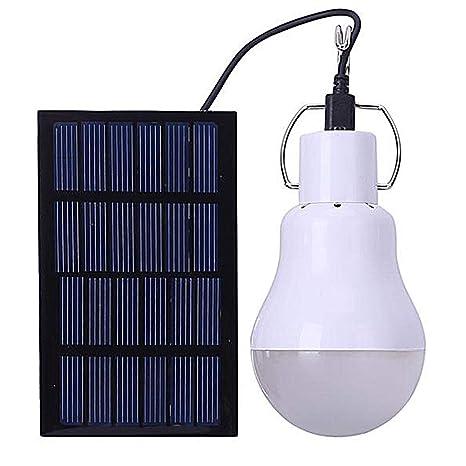 NBWS Bombilla portátil para Acampar, Cobertizo con energía Solar ...