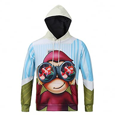 Amazon.com: Crochi Hoodies Men Sudaderas Hombre Hip Hop Mens Cartoon Double Pocket Long Sleeve Hoodie Sweatshirt Pullover Loose Men Hoody: Clothing