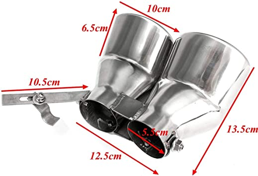 CUHAWUDBA Tubo de Silenciador de Escape Trasero de Acero Inoxidable para Autom/óVil Tubo de Cola para Mercedes Clase C W203 C240 C320