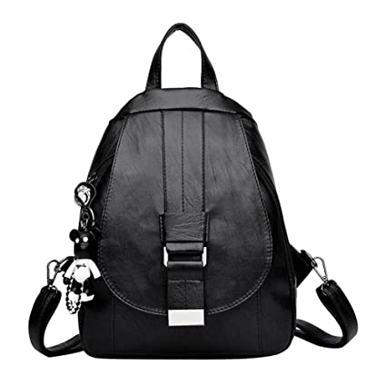 Widewing Mochilas mujer guess Mujeres simples Casual PU Leather Backpack Girl Pequeño bolso de hombro (