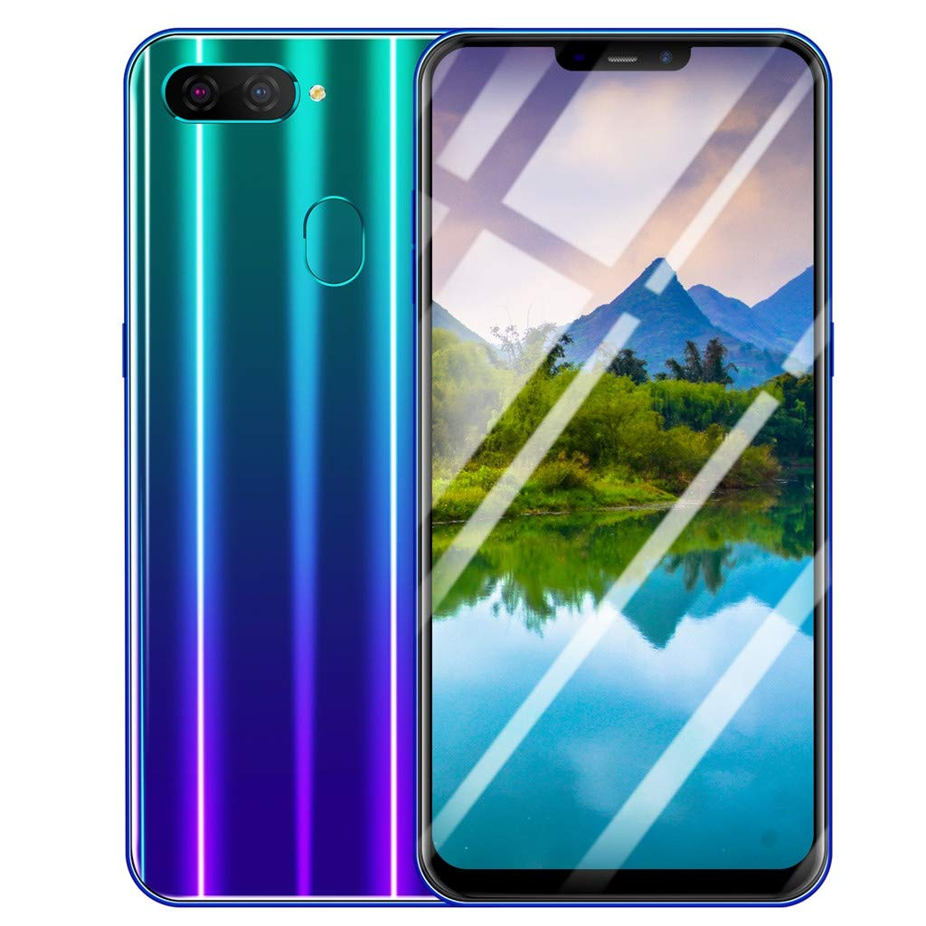NDGDA Eight Core 6.3 inch Dual HD Camera Smartphone Android 8.1 16GB Touch Screen WiFi Bluetooth GPS 3G Call Mobile Phone (Blue)