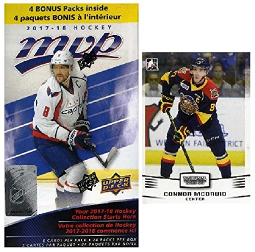 2017/18 Upper Deck MVP NHL Hockey EXCLUSIVE HUGE Factory Sealed Blaster Box with 24 Packs & 120 Cards PLUS BONUS Connor McDavid ROOKIE! Box Features New Rookies & Inserts! Look for Autographs! WOWZZER Nhl Rookie Card