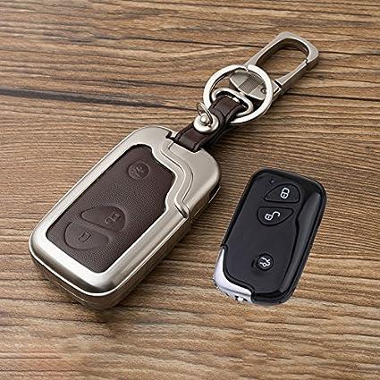 beamseed Metal con piel funda para llave de coche para Lexus ...