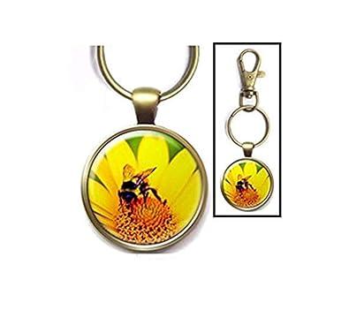 Heng Yuan Cheng Amarillo Daisy Bee Key Chain, Bumblebee Key ...