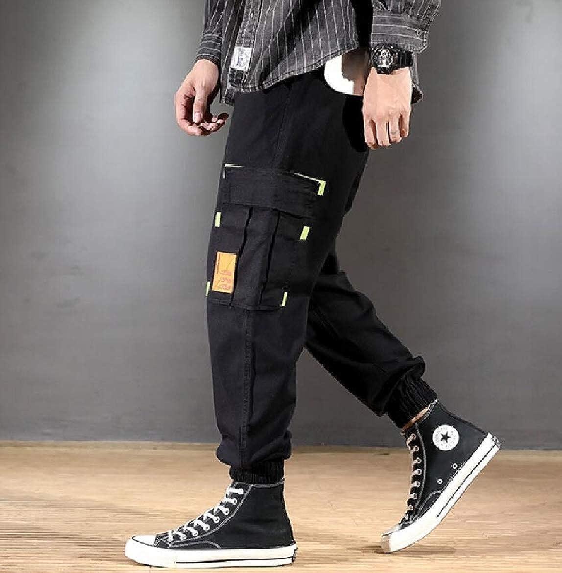 SportsX Mens Outdoor Sports Big Pockets Plus Size Jogger Pant Trousers