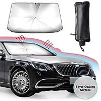 Car Shade Front Windshield Foldable Umbrella, UV Sun and Heat Insulation Protection, Free Installation Sunscreen Visor…