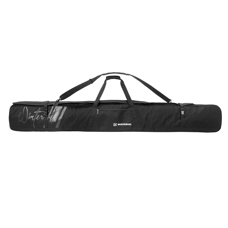 車輪付き冬用スキーバッグ 旅行バッグ 5つの収納コンパートメント付き 強化ダブルパッド ロードトリップや飛行機旅行に最適