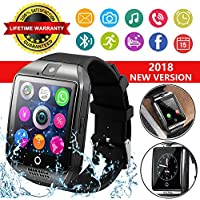 Smart Watch for Android Phones, Bluetooth Smartwatch Touchscreen with Camera, Smart Watches Waterproof Smart Wrist Watch Phone Compatible with Android Samsung iOS iPhone X 8 7 6 6S 5 Plus Mens awomen