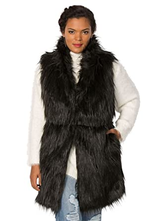 af8ba2e1fed Roamans Women s Plus Size Faux Fur Vest at Amazon Women s Coats Shop