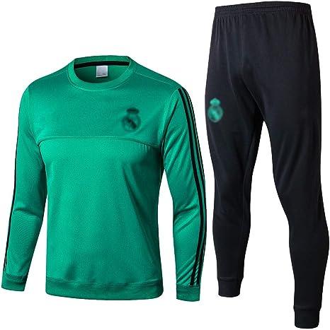 No-brand De Manga Larga española Club de fútbol Ropa Deportiva Verde Transpirable Ropa del Entrenamiento del fútbol-dd044 (Color : Green, Size : S): Amazon.es: Deportes y aire libre