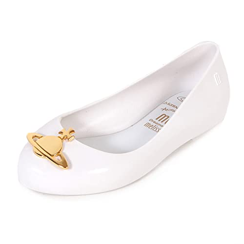 12524a96942 Mel Dreamed by Melissa Kids Vivienne Westwood Space Love Orb Flat  White-White-10