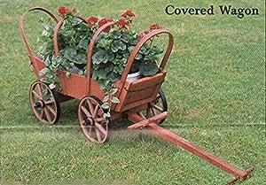 Economía covered Wagon de madera para jardín/Jardín Amish fabricado en EE. UU.