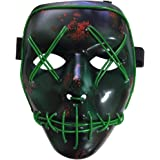 BESTZY Halloween la Maschere, LED Light Up Maschera,Maschere per Costumi di Partito Maschere per Adulti Giocattoli per Feste Festival Cosplay Costume di Halloween
