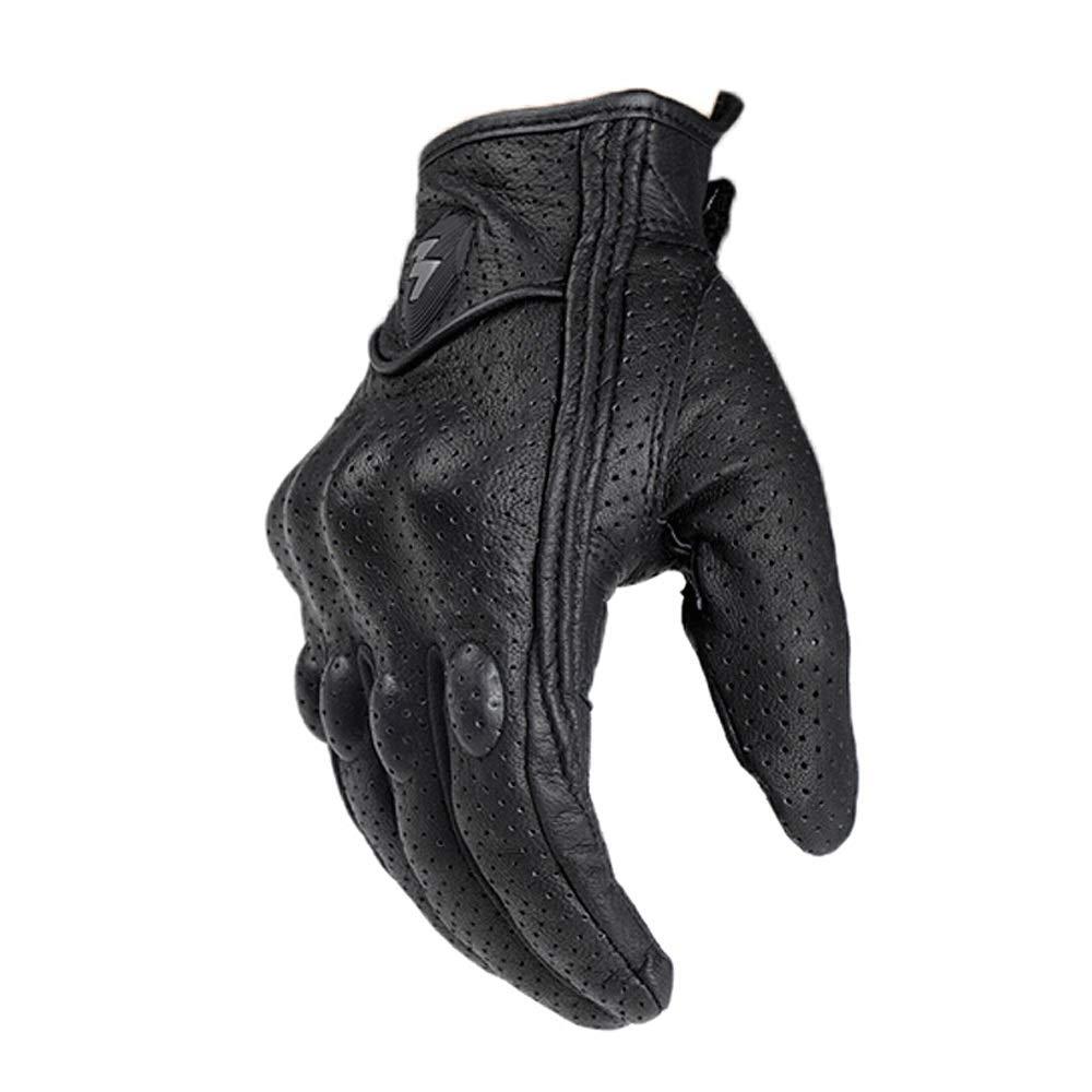 KLEDDP Fahrradhandschuhe Lokomotive Vier Jahreszeiten Herbst Und Winter Warme Handschuhe Bruchsicher Motorrad-Schutzhandschuhe, Schwarz Handschuhe für Männer