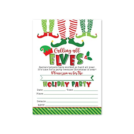 25 Winter Holiday Party Invitations Christmas Xmas Dinner Invite Birthday Baby Bridal Shower Festive Event Themed Card Ideas Red White Kids Adults