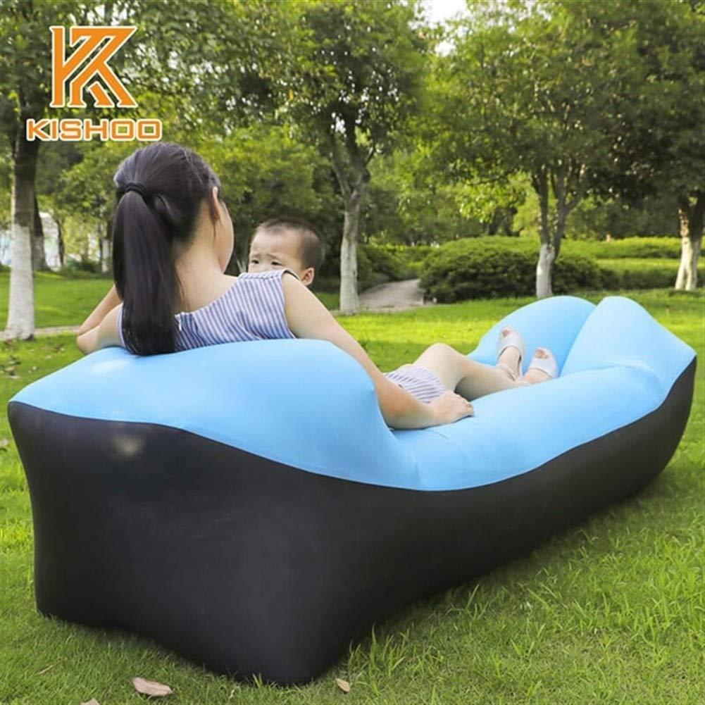 Peninsula Iron Box Camping mat Lazy Bag Lazy Outdoor Camping Lazy Couch Beach Picnic mat Inflatable Sofa Bed Bean Bag air Sofa Leisure Cushion sdaijeuh787 (Color : 6) by Peninsula Iron Box