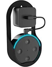 Echo Dot Holder Outlet Wall Mount,Fabselection ABS Matte Hanger Stand for Alexa/Amazon Echo Dot 2nd Generation Plug in Kitchens Bathroom Bedroom Office(Echo Dot NOT Included)