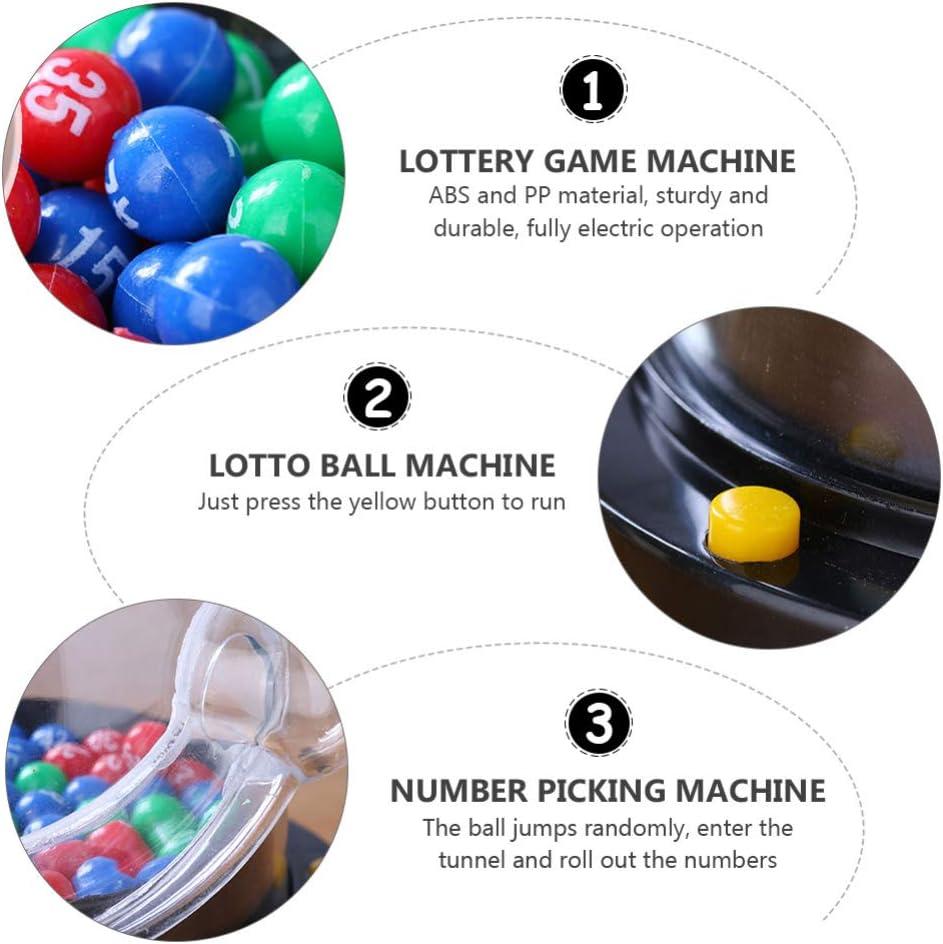 jojofuny 2 Set Mini Lottery Machine Electric Shake Lucky Ball Game Fortunate Ball Picking Machine Bingo Toy for Party KTV Without Battery