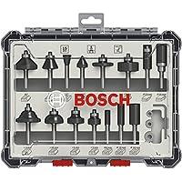 Bosch Professional 15-delige frezenset (voor hout, accessoire bovenfrezen met schacht van 6 mm)