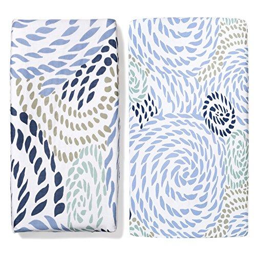 b.bear Rope Organic Changing Pad Cover and Crib Sheet Set by b.bear