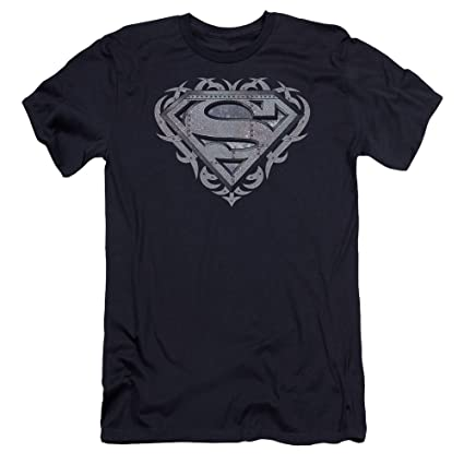 Superman TRIBAL STEEL SHIELD Licensed Adult T-Shirt All Sizes