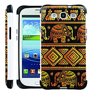 [ManiaGear] SLIM Rugged Hybrid Image Protector Cover (Golden Elephant) for Samsung Galaxy S3