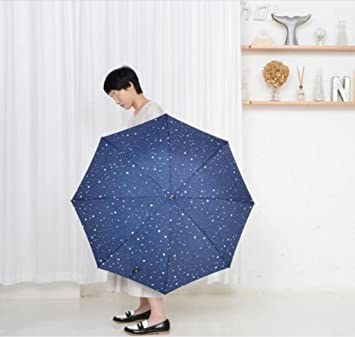 paraguas Sombrilla paraguas paraguas mujer paraguas largo recto sombrilla larga sombrilla (Color : Azul)