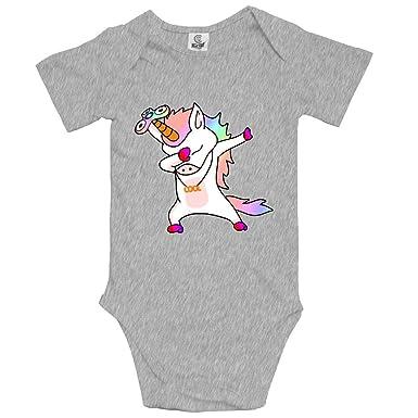 7726d0b9e Unisex 100% Cotton Short Sleeve Infant Baby Onesies Dabbing Unicorn Fidget  Spinner Baby Clothes 0