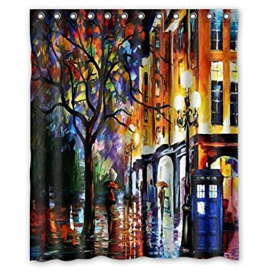 Colorful Doctor Who Art Waterproof Bathroom Shower Curtain 60 (w) x 72(h)  inches