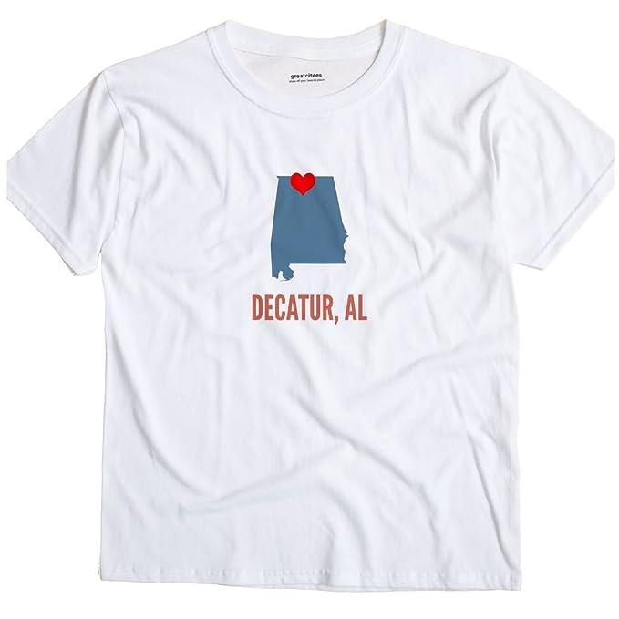 GreatCitees Decatur Alabama AL Heart Unisex Souvenir T Shirt