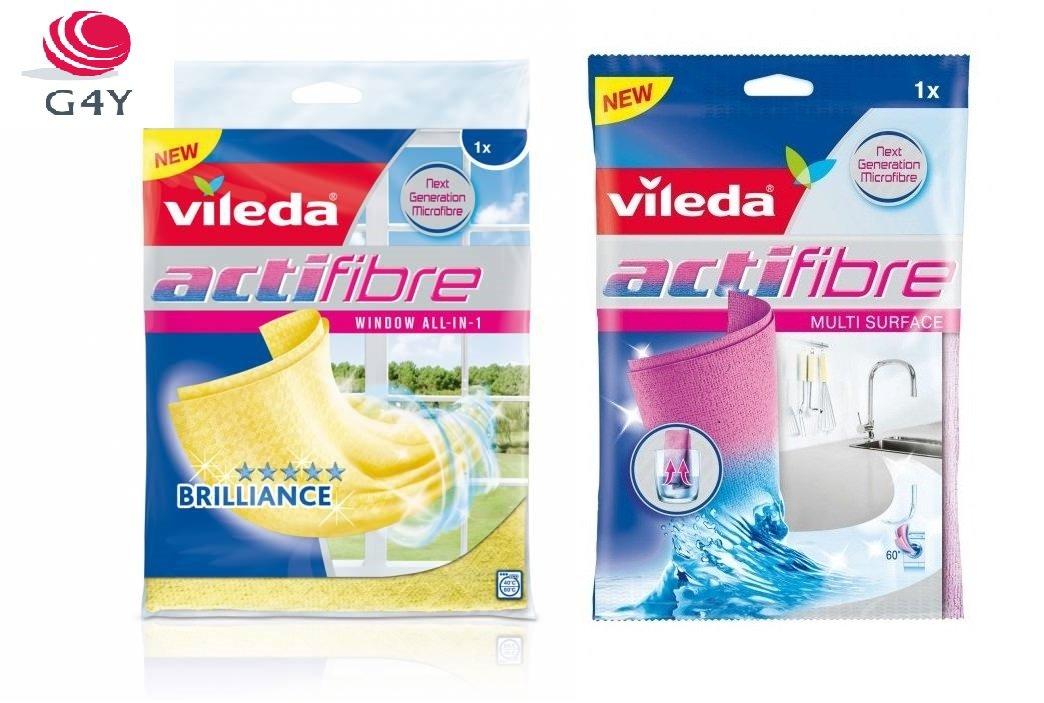 /Panno Pulizia per vetro Actifibre Vileda/ /Panno Pulizia Actifibre,1/pezzi /& Vileda/ Giallo.
