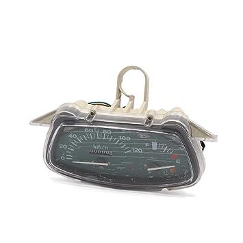sourcingmap 0-120Km/H Reloj Digital Dual Odómetro Tacómetro Velocímetro de Moto Universal